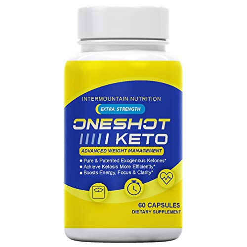 The Official Brand, One Shot Keto, Extra Strength, Pure & Patented Exogenous Ketones, Boosts Energy, Dietary Supplement